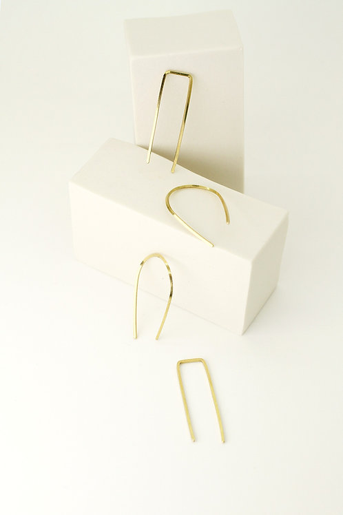 Brass threader earrings