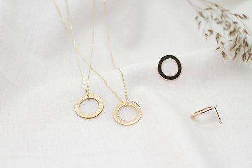 Short Chain Gold Pendant