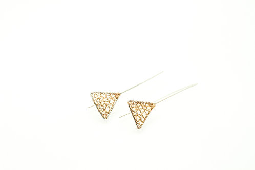 Shapes Earrings Triangle STE01