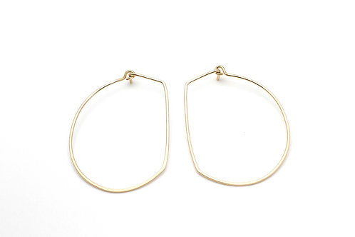 Gold Hoop Earrings-Irregular
