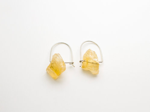 Silver earrings with Citrine