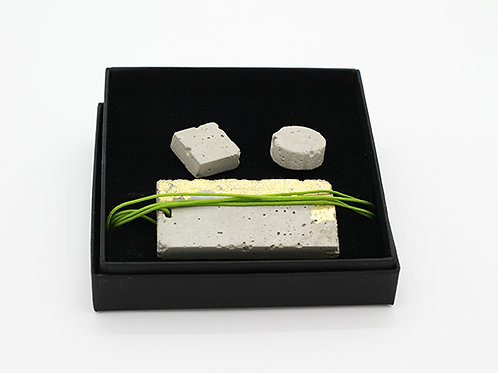 Concrete Jewellery Set- Studs and Pendant
