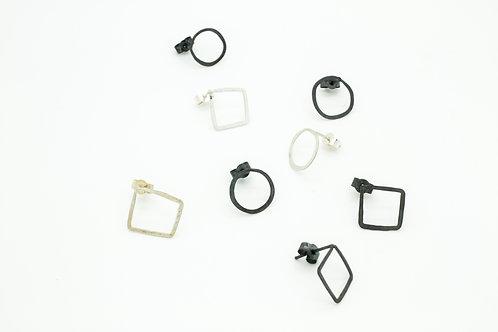 Minimalistic Silver Studs Mix and Match