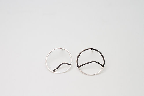 Mismatched silver studs mountains