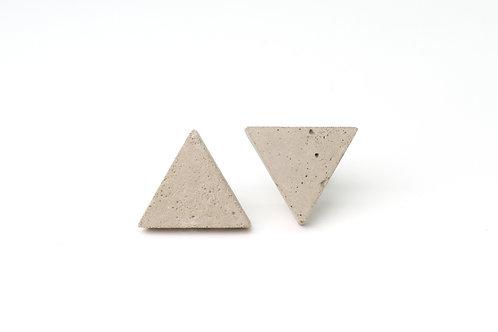 Concrete Silver Studs Triangles