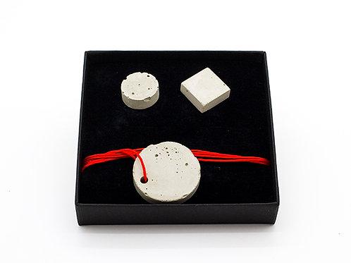 Jewellery Set-Concrete Studs and Pendant