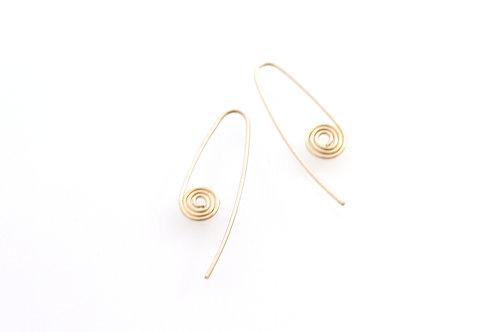 Simple Earrings Silver Swirl