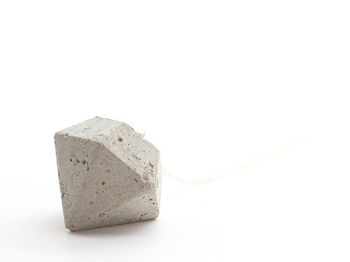 Diamond Shape Concrete Pendant Big