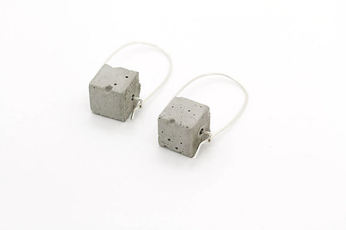 Concrete Drop Earrings with Silver Hook