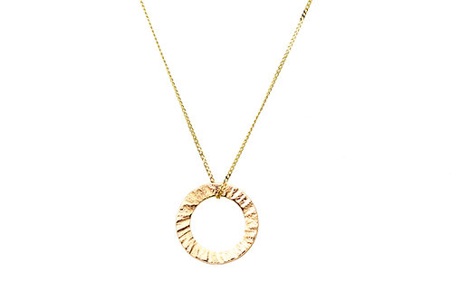 Short Chain Gold Pendant