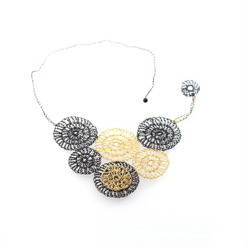Crocheted Wire - Statement Necklace