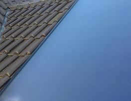 Zonnecollector ingebouwd in het dak