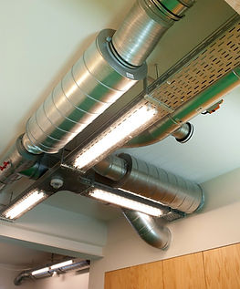 Een ventilatiesysteem op een kantoor