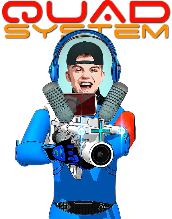 A Astronaut with a sci-fi weapon