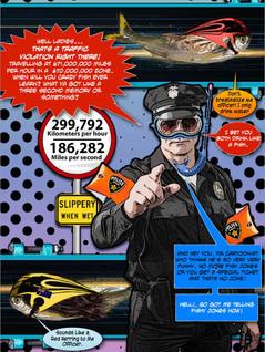 Cảnh sát giao thông tốc độ nhẹ