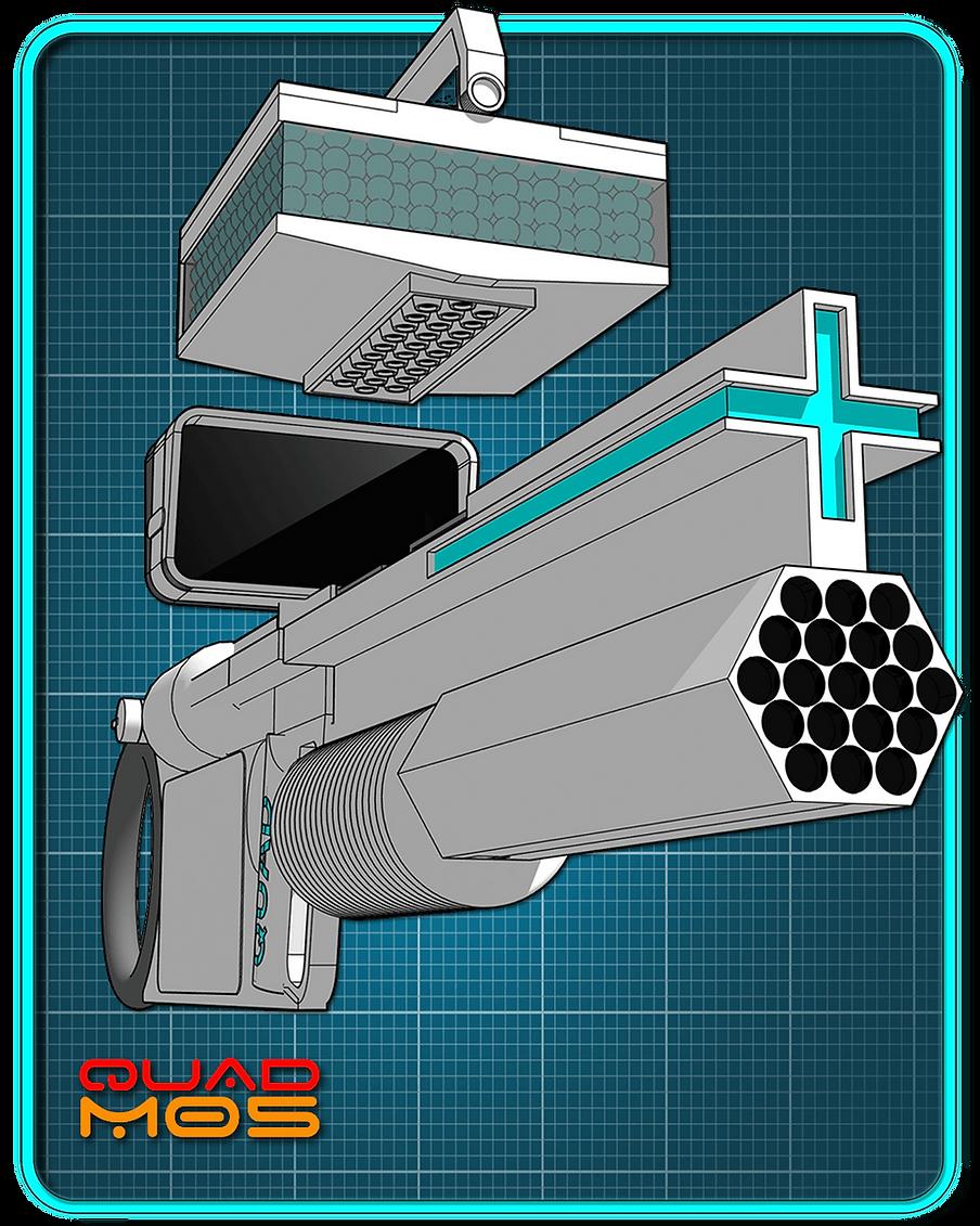 Selficom QUAD M05-Muzzle Detail