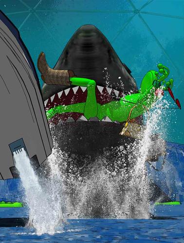 रोबो-शार्क-ताजा क्वेस्ट कॉमिक