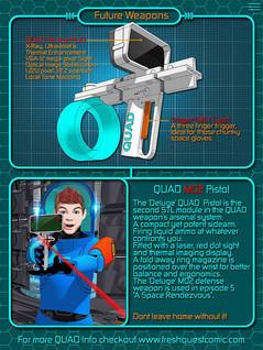 QUAD M02 Pistol với Motion Tracker