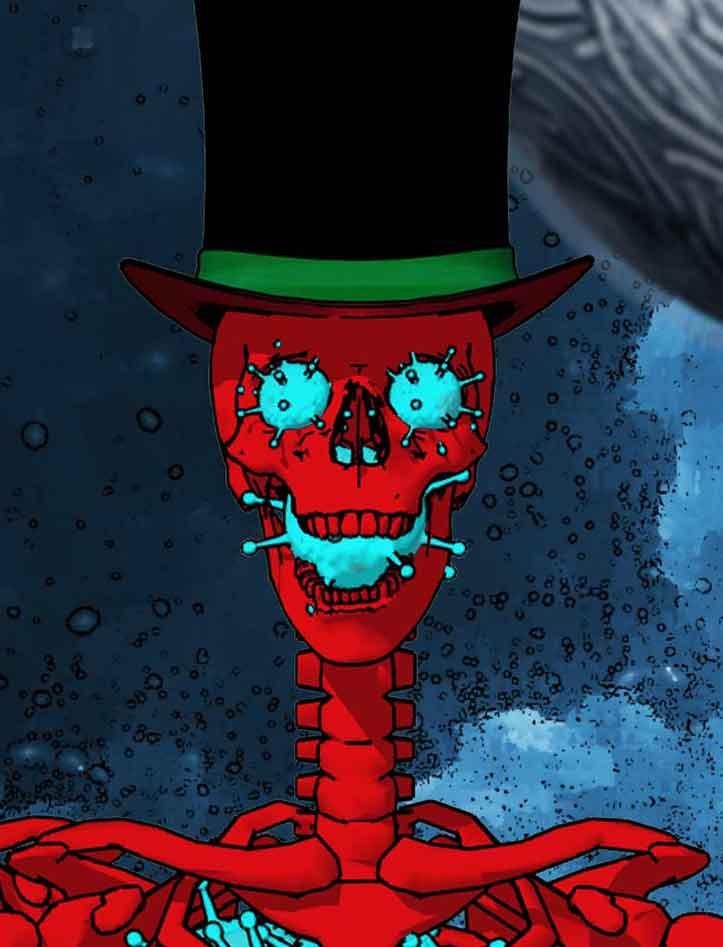 Bacteria Skull-Fresh Quest Comic