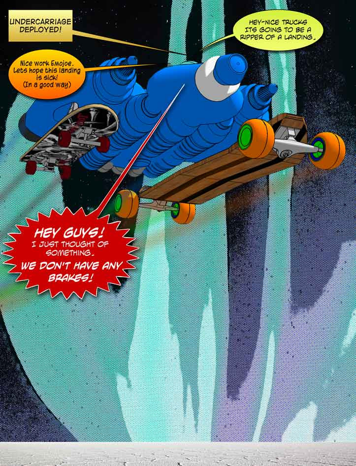 Bluebird One-Landing gear down