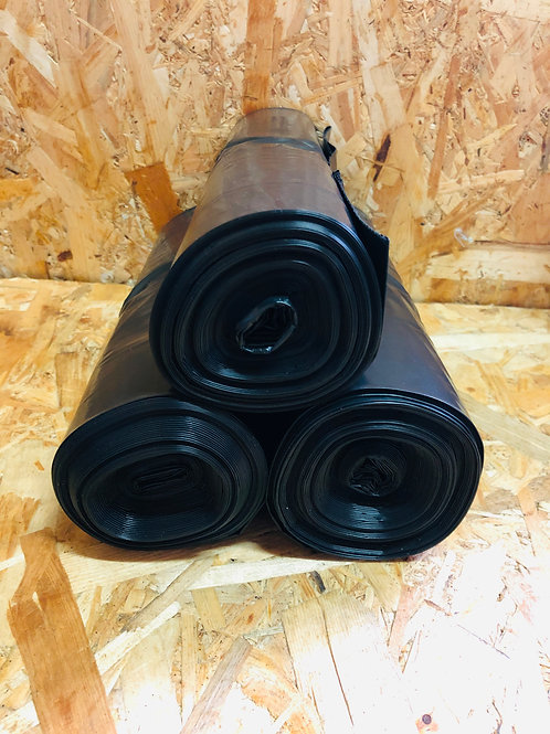 Мешки для мусора черного цвета 240 л (90мм*130мм 40мкм)