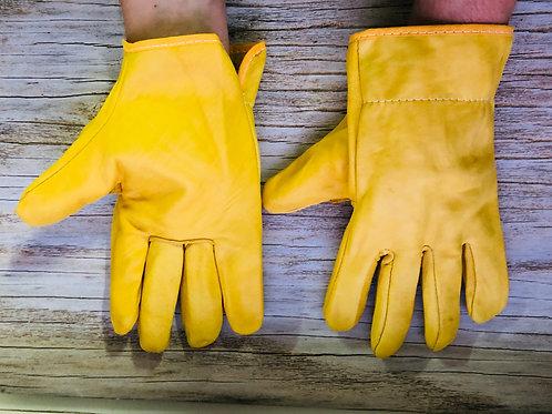Перчатки кожаные цельные Драйвер.