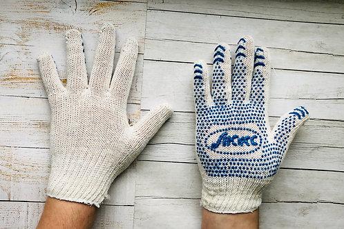 Перчатки ХБ с ПВХ 10 класс 3 нитка
