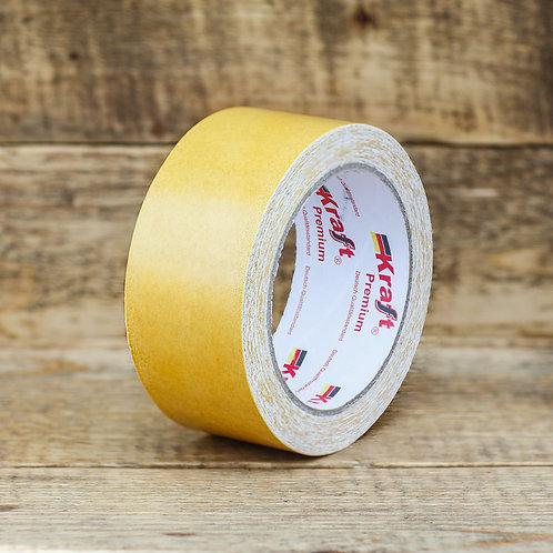 Двухсторонний скотч на тканевой основе(желтый) 48мм*15,5мм.