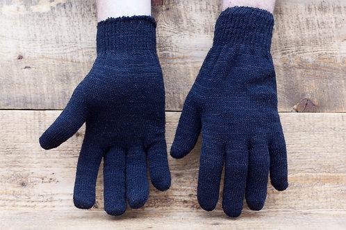 Перчатки двойные без ПВХ. Пр-во Россия. Цвет серый и чёрный