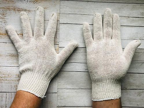 Перчатки ХБ 10 класс 4 нитки (без нанесения)