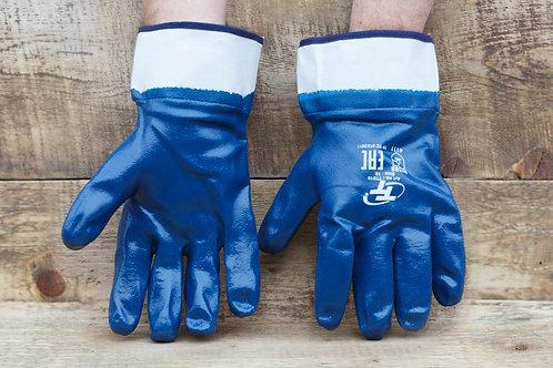 Перчатки МБС синие нитриловые (мягкий и твёрдый манжет)