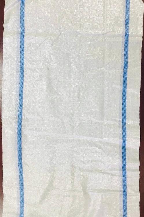 Мешки полипропиленовые с полосой плотные. Цвет белый. Размер 55*95см.