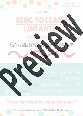 Sing to Learn - Infants