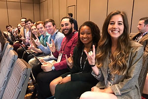 nc state students at a conferene