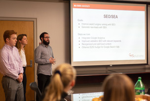 nc state students giving presentation
