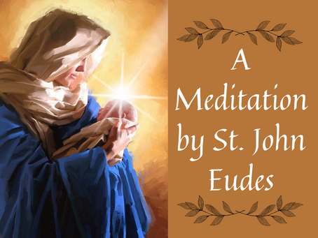 A Meditation of St. John Eudes