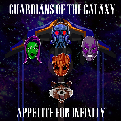 Guardians of the Galaxy Appetite for Infinity print