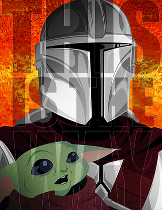 """Mandalorian """"this is the way"""" Print (signed)"""