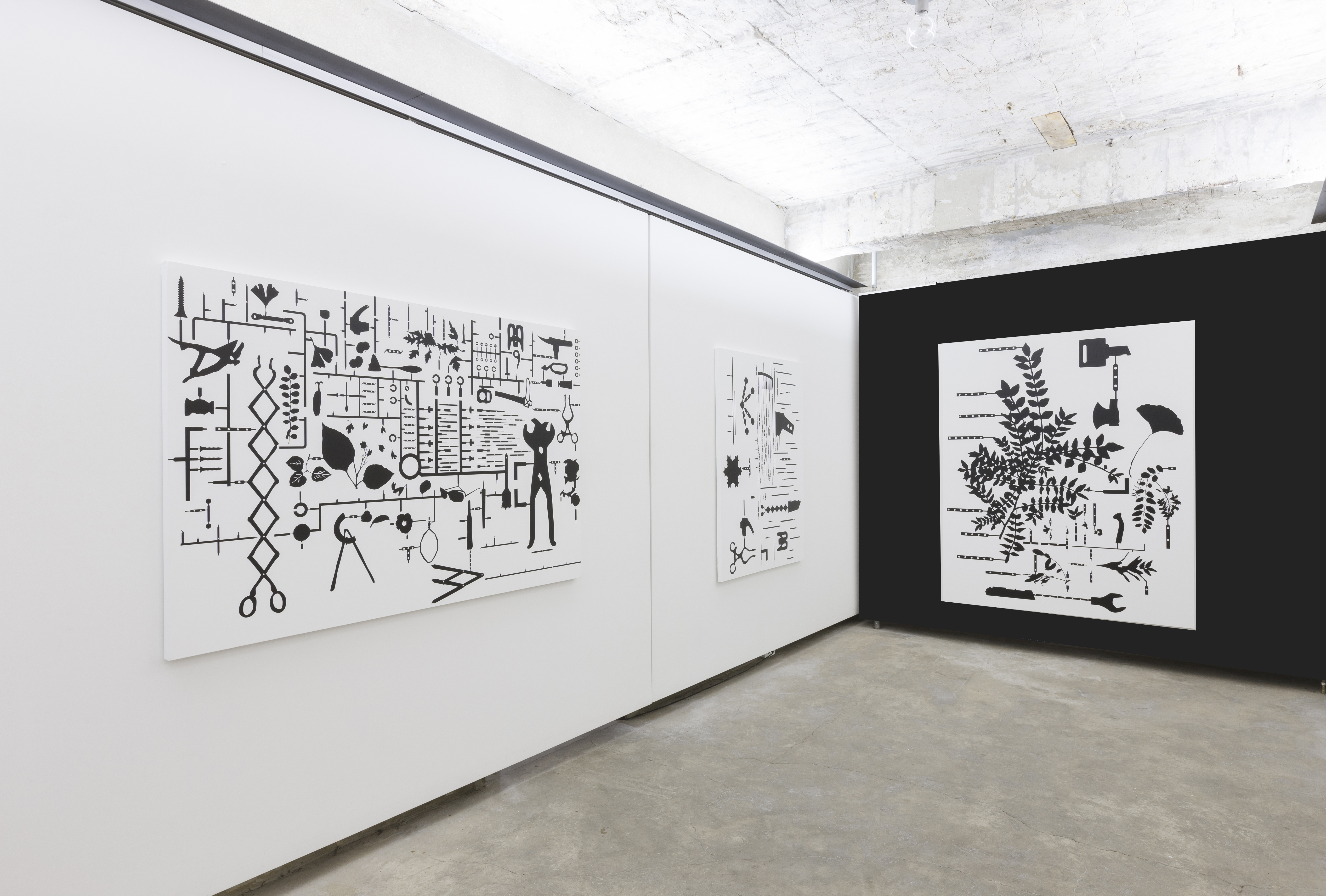 """The Black Garden"" Installation View"