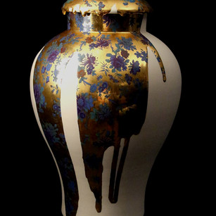 Imagery & Figuration J8(Gold & Blue Flow