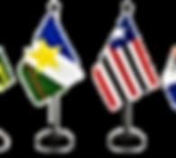 Bandeira personalizada para eventos, para brindes e feiras.