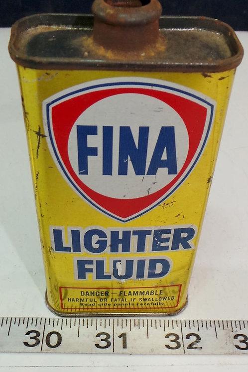Fina Lighter Fluid Tin