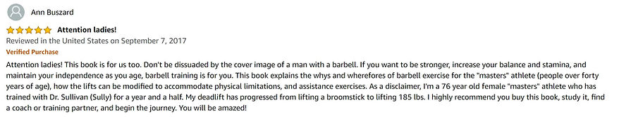 Barbell training is for ladies too.