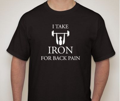 I Take Iron for Back Pain