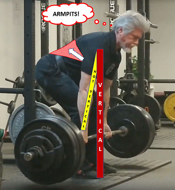 HOW TO KEEP THE DEADLIFT ON YOUR LEGS: ARMPITS!