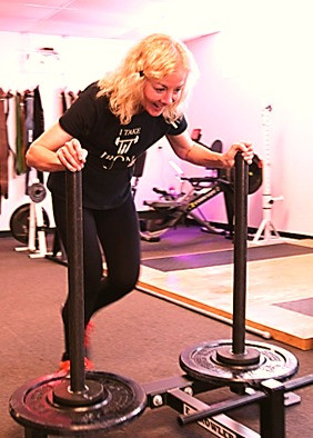Sled pushes are ideal conditioning for older adults.