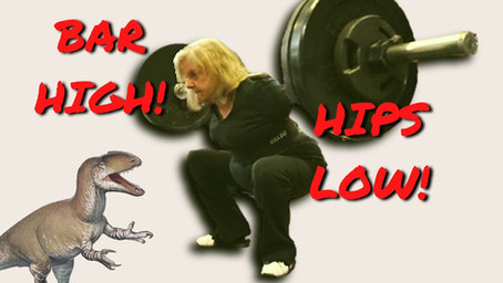 BAR HIGH, HIPS LOW: IMPROVE YOUR SQUAT WITH THIS SIMPLE FIX.