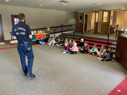 Enjoying a visit from Chesterfield Fire & EMS