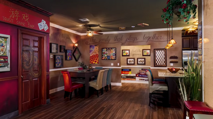 Indoor games and meeting space
