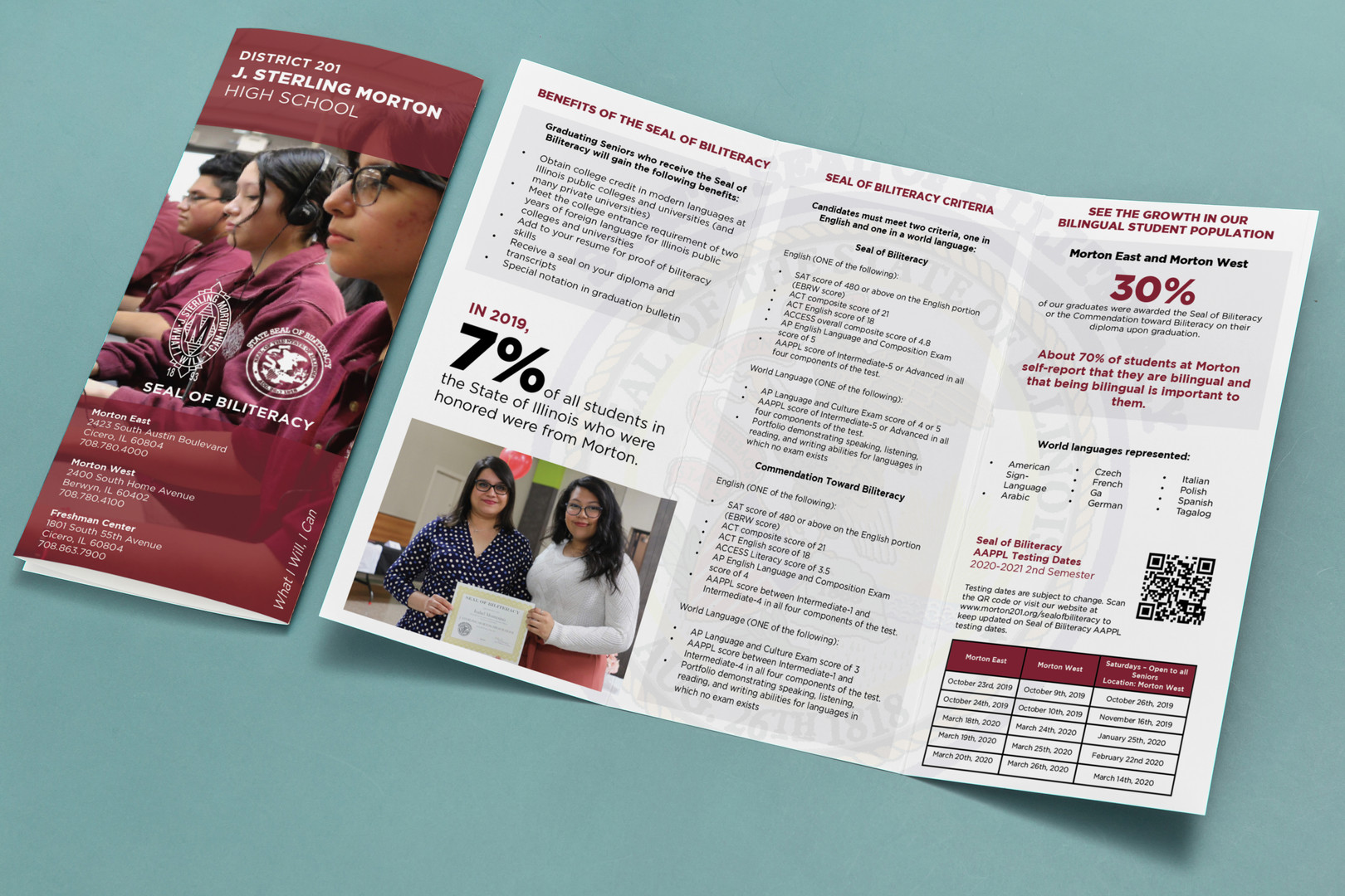 Morton District 201 Seal of Biliteracy Promotional Brochure
